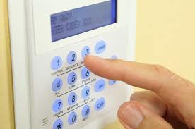 Type into your alarm keypad throughout the day to desensitize your dog to the activity.