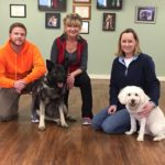 Fairy, Andrew, and Bandit visited CPT for a private behavior modification session on dog aggression.