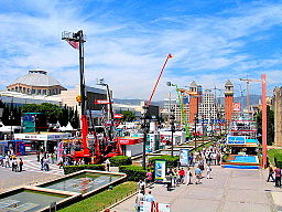 Fira de Barcelona hosts 70 trade shows and over 500 events per year attended by 30,000 companies and over 2.5 million visitors. Fira is the second largest exhibition center in Europe. Source: Wikimedia Commons. Attribution: A. www.viajar24h.com (Flickr).