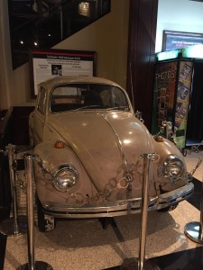The Museum of Crime and Punishment displayed artifacts from noted criminals throughout history. Here we see Ted Bundy's Volkswagen Beetle.