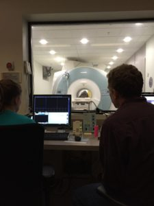 Jealousy- The view from the MRI control room.