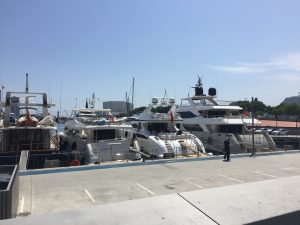 The Barceloneta Marina, which I passed on my way to the Museum, docked expensive yachts...