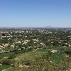 Phoenix, Arizona- Paradise Valley, Phoenix, and northern Stockdale, as seen from Camelback Mountain.