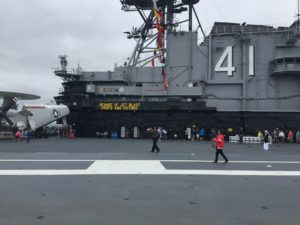 San Diego, CA- 'Nuff said. Working on an aircraft carrier is a dangerous job.