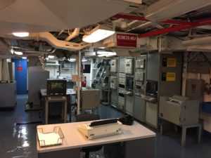 San Diego, CA- The carrier's major communication room.