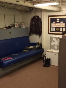 San Diego, CA- The officer's quarters were notably more spacious than those given the enlisted sailors.