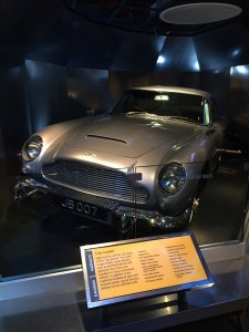 James Bond's Aston Martin from the movie Goldfinger. The International Spy Musuem had many exhibits that were highly educational regarding the history of spies in warfare and politics. They also had an entire exhibit dedicated to a fictional spy, James Bond.