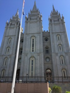 Salt Lake Temple. Photographed from behind The Tabernacle.