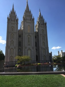 Salt Lake Temple. Photographed from the Joseph Smith Memorial Building.
