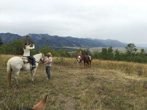 A family from Los Angeles that joined us during our ride. Alpine, WY.