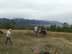 A family that joined us horseback riding. The kids and mom were awesome riders- Alpine, WY.