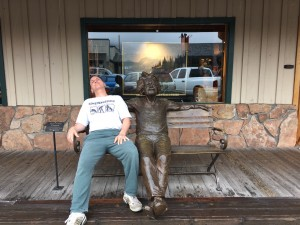 Mark ruminating with Albert Einstein- Jackson, Wyoming.